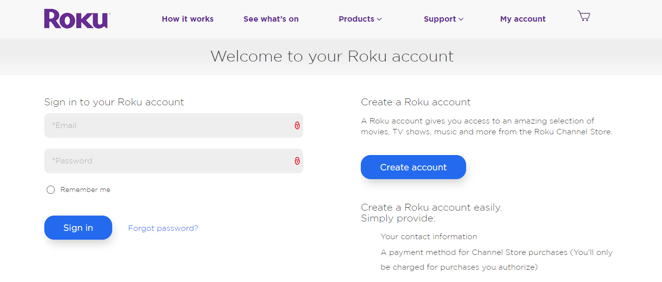 roku account